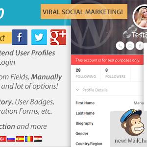 پروفایل کاربری حرفه ای با UserPro