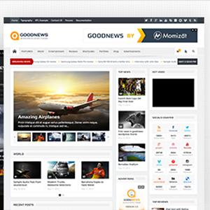 دانلود رایگان قالب GoodNews وردپرس