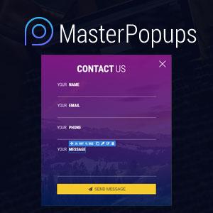 معرفی افزونه Master Popups وردپرس