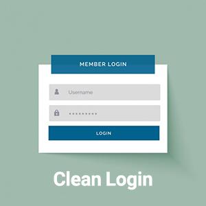 دانلود افزونه ورود و ثبت نام Clean Login